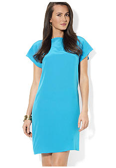 Lauren Ralph Lauren Silk Boatneck Dress