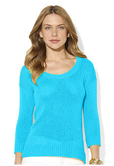 Lauren Ralph Lauren Dauryen Open-Knit Scoopneck Sweater