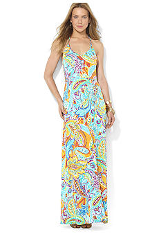 Lauren Ralph Lauren Sleeveless Paisley Maxi Dress