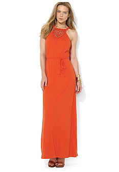 Lauren Ralph Lauren Macram Maxi Dress