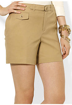 Lauren Ralph Lauren Buckled Cotton Short