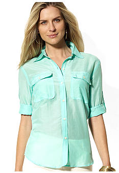 Lauren Ralph Lauren Cotton-Blended Workshirt