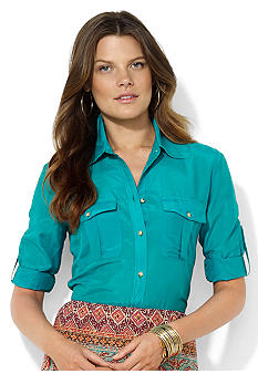 Lauren Ralph Lauren Cotton Roll-Tab Workshirt