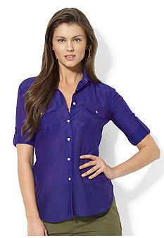 Lauren Ralph Lauren Ristow Cotton & Silk Workshirt