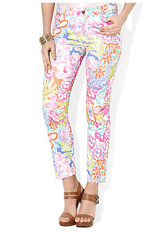 Lauren Ralph Lauren Stretch-Cotton Floral-Print Pant