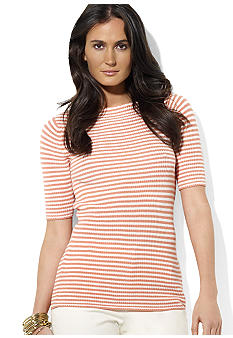 Lauren Ralph Lauren Striped Knit Bateau-Neck Top