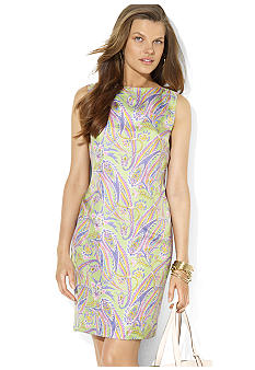 Lauren Ralph Lauren Paisley Boatneck Dress