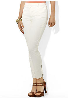 Lauren Ralph Lauren Zippered Slim Ankle Pant