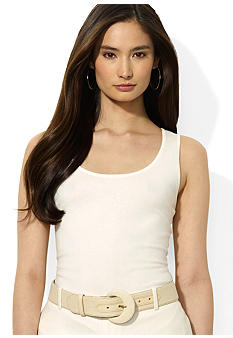 Lauren Ralph Lauren Silk-Blend Scoop Neck Tank