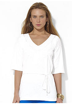 Lauren Ralph Lauren Embroidered Cotton Tunic