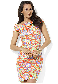Lauren Ralph Lauren Paisley Cowlneck Dress