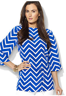 Chevron Silk Tunic