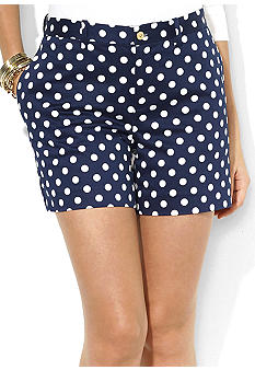 Lauren Ralph Lauren Polka-Dot Cotton Short