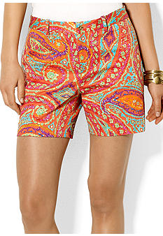 Lauren Ralph Lauren Paisley Cotton Short