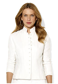 Lauren Ralph Lauren Embroidered Linen Jacket