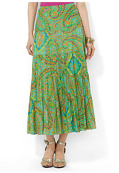 Lauren Ralph Lauren Tiered Maxi Skirt