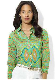 Lauren Ralph Lauren Paisley Cotton Workshirt