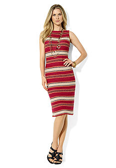 Lauren Ralph Lauren Knit Sleeveless Boatneck Dress