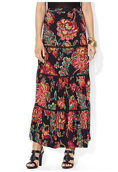 Lauren Ralph Lauren Floral Cotton Maxi Skirt