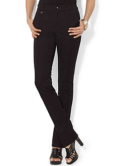 Lauren Ralph Lauren Pintucked Straight Pant