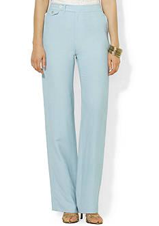 Lauren Ralph Lauren Wide-Leg Silk-Linen Pant