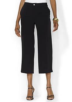 Lauren Ralph Lauren Wide-Leg Cropped Pant