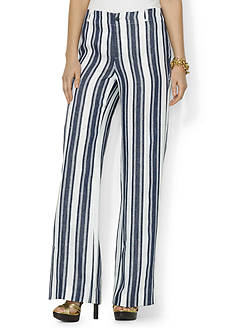 Lauren Ralph Lauren Striped Wide-Leg Pant