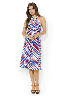 Lauren Ralph Lauren Striped Halter Dress