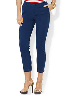 Lauren Jeans Co. Stretch-Cotton Straight Pant