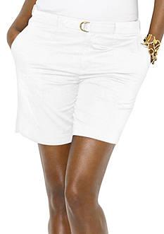Lauren Ralph Lauren Belted Twill Short