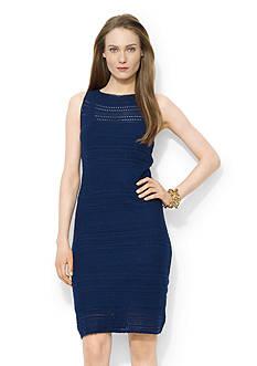 Lauren Ralph Lauren Pointelle-Knit Cotton Dress