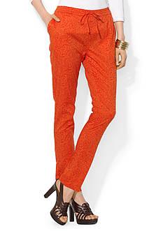 Lauren Ralph Lauren Paisley Straight-Leg Pant