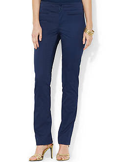 Lauren Ralph Lauren Cotton Twill Straight Pant