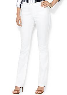 Lauren Ralph Lauren Cotton Twill Straight Pant