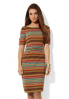 Lauren Ralph Lauren Striped Roll-Tab Dress