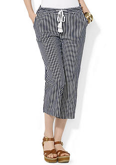 Lauren Ralph Lauren Cropped Linen Pant