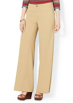 Lauren Ralph Lauren Wide-Leg Sueded-Crepe Pant