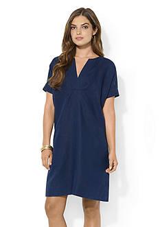 Lauren Ralph Lauren Linen Short-Sleeved Dress