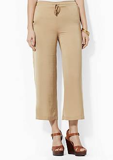 Lauren Ralph Lauren Cropped Wide-Leg Pant