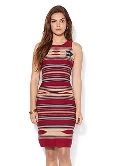 Lauren Ralph Lauren Intarsia-Knit Sleeveless Dress