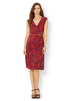 Lauren Ralph Lauren Jersey Faux-Wrap Dress