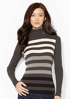 Lauren Ralph Lauren Ombre-Striped Turtleneck Sweater