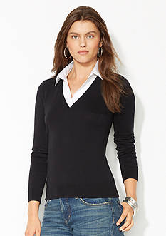 Lauren Ralph Lauren Collared Sweater