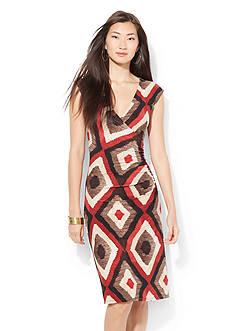 Lauren Ralph Lauren Cap Sleeve Casual Dress