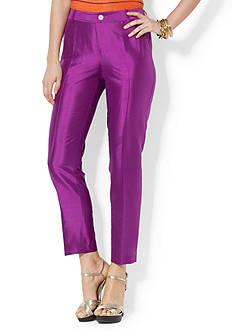Lauren Ralph Lauren Silk Straight Pant