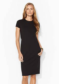 Lauren Ralph Lauren Faux-Leather-Trim Dress<br>