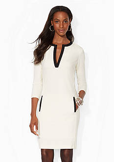 Lauren Ralph Lauren Split-Placket Stretch Dress