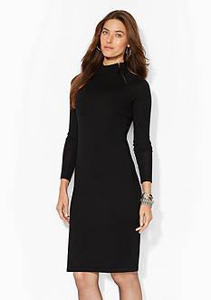 Lauren Ralph Lauren Merino Wool Moto Dress
