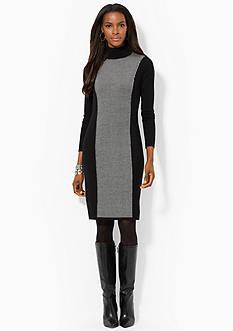 Lauren Ralph Lauren Houndstooth Turtleneck Dress