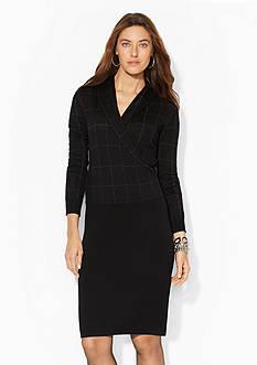 Lauren Ralph Lauren Shawl-Collar Wool Dress